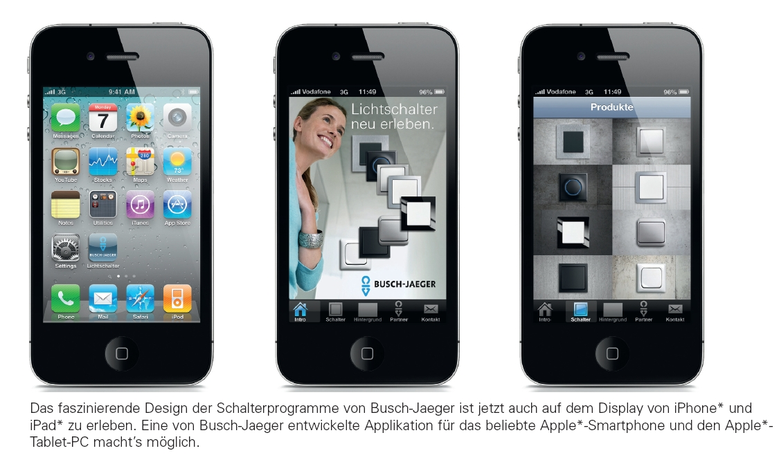 schalterdesign von busch jaeger auf iphone und ipad. Black Bedroom Furniture Sets. Home Design Ideas